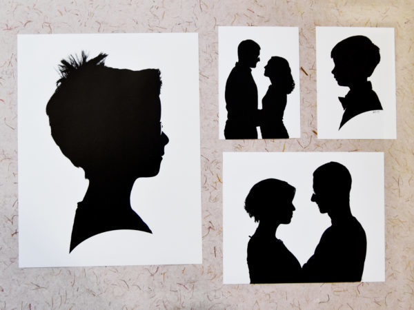 collage of silhouette photographs