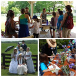 collage of girl scouts enjoying crafts