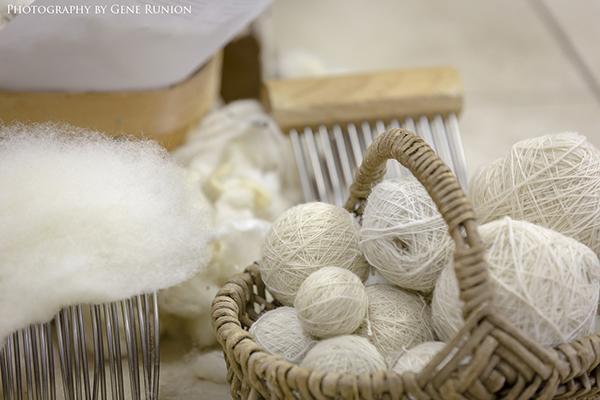 wool yarn in basket