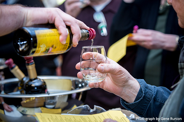 Pouring mead in to glass
