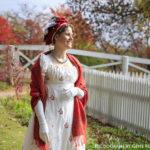 Actress dressed as Elizabeth Monroe