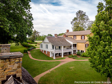 Aerial view of Monroe guest house